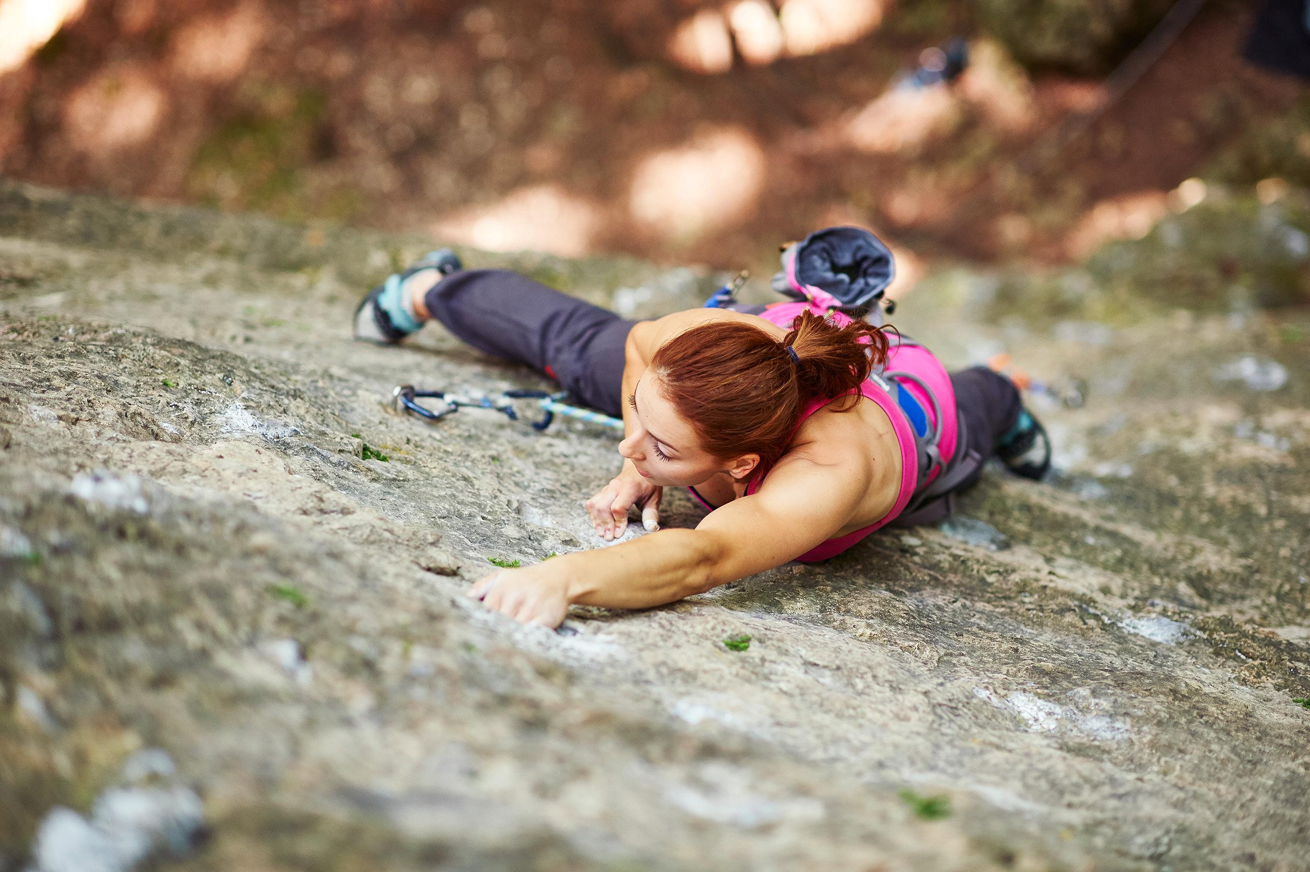 Sportklettern an der Castellwand